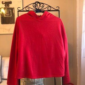 Zara red hoodie